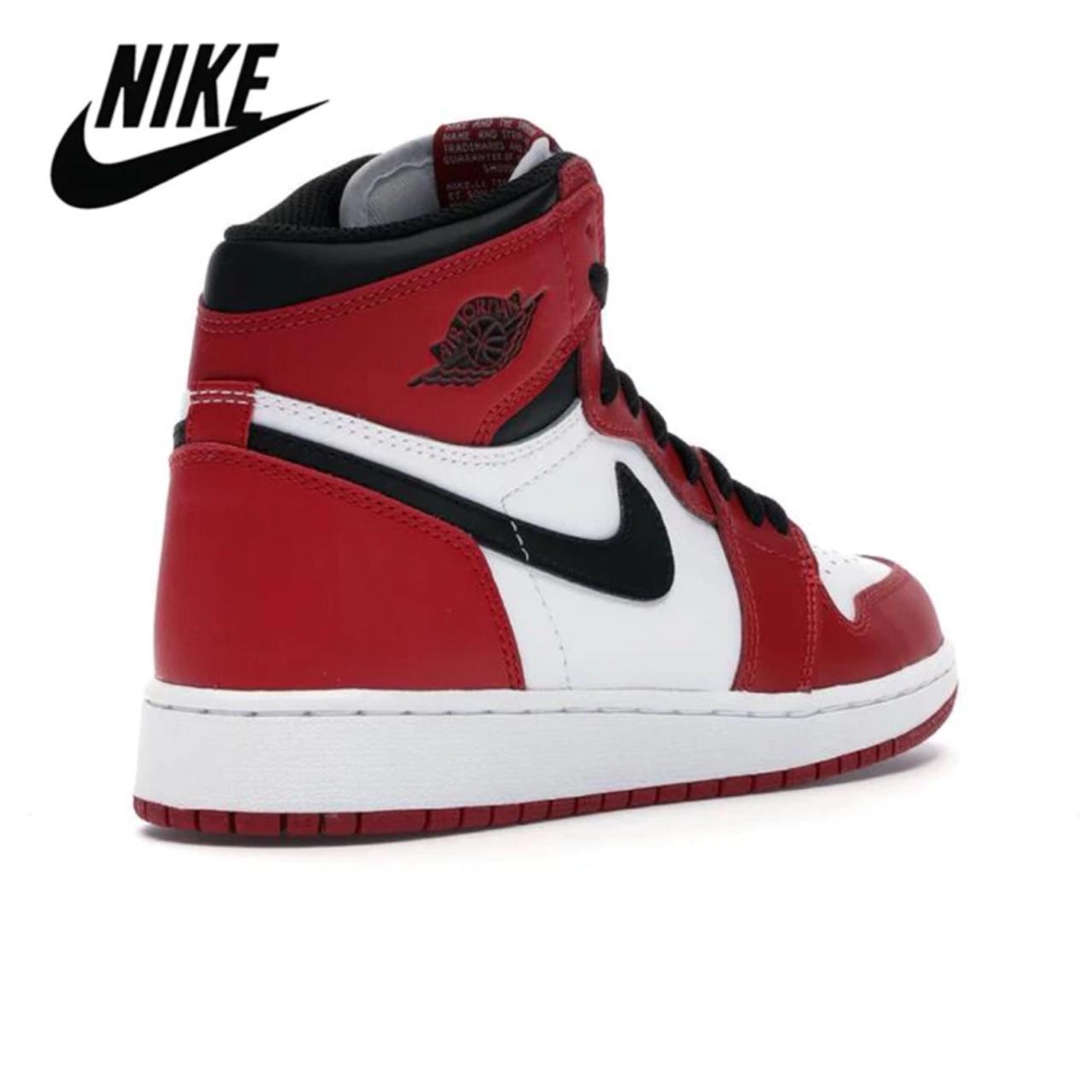 2021 Nouvel Nike Air Jordan 1 Rouge Haute OG Cour Basketball